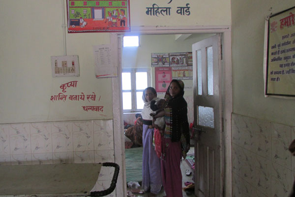 A woman is seen at the maternity ward of the sub divisional hospital in the east Indian state of Bihar.